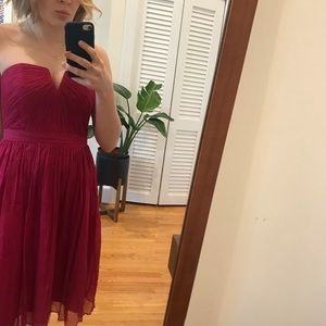 Strapless vintage inspired chiffon gown